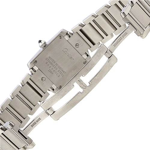 2296 Cartier Tank Francaise Ladies Small SS Watch W51008q3 SwissWatchExpo