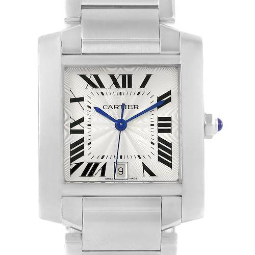 Photo of Cartier Tank Francaise Silver Dial Stainless Steel Watch W51002Q3