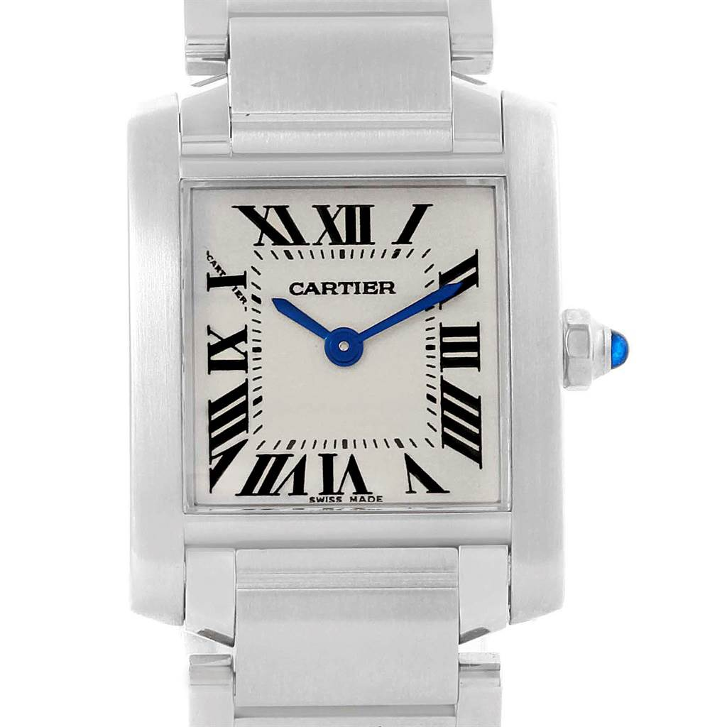 Cartier Tank Francaise Stainless Steel Ladies Watch W51008Q3 SwissWatchExpo