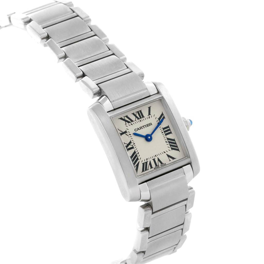 19308 Cartier Tank Francaise Stainless Steel Ladies Watch W51008Q3 SwissWatchExpo