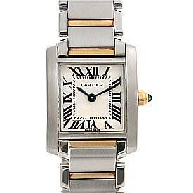 Photo of Cartier Tank Francaise Small Stainless Steel and 18k Yellow Gold W51007q4