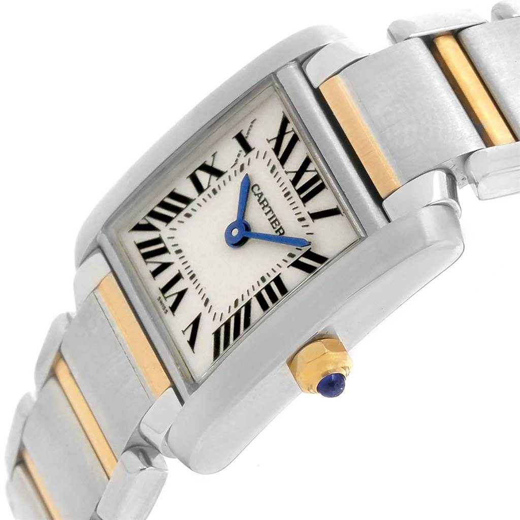 19875 Cartier Tank Francaise Small Steel Yellow Gold Ladies Watch W51007Q4 SwissWatchExpo