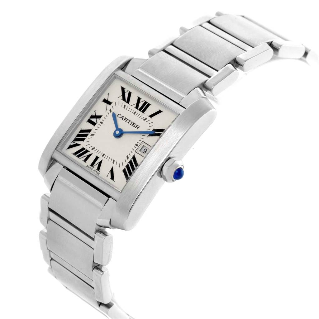 18371 Cartier Tank Francaise Midsize Silver Dial Ladies Watch W51011Q3 SwissWatchExpo