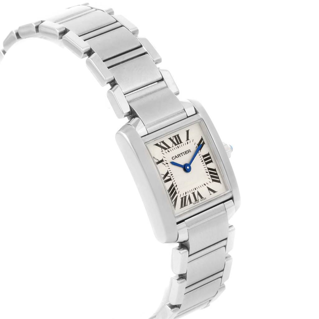 20493 Cartier Tank Francaise Stainless Steel Quartz Ladies Watch W51008Q3 SwissWatchExpo