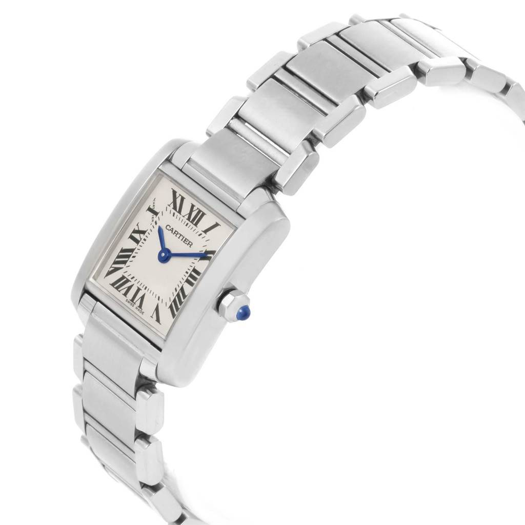 20492 Cartier Tank Francaise Steel Small Ladies Watch W51008Q3 Box SwissWatchExpo