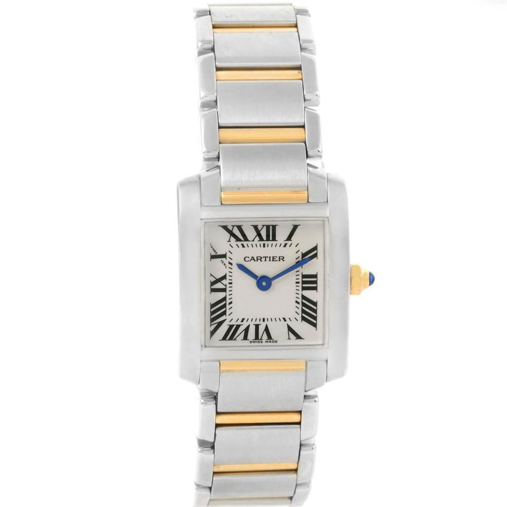17754 Cartier Tank Francaise Steel Yellow Gold Small Ladies Watch W51007Q4 SwissWatchExpo