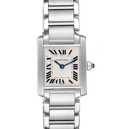 Photo of Cartier Tank Francaise Silver Dial Steel Quartz Ladies Watch W51008Q3