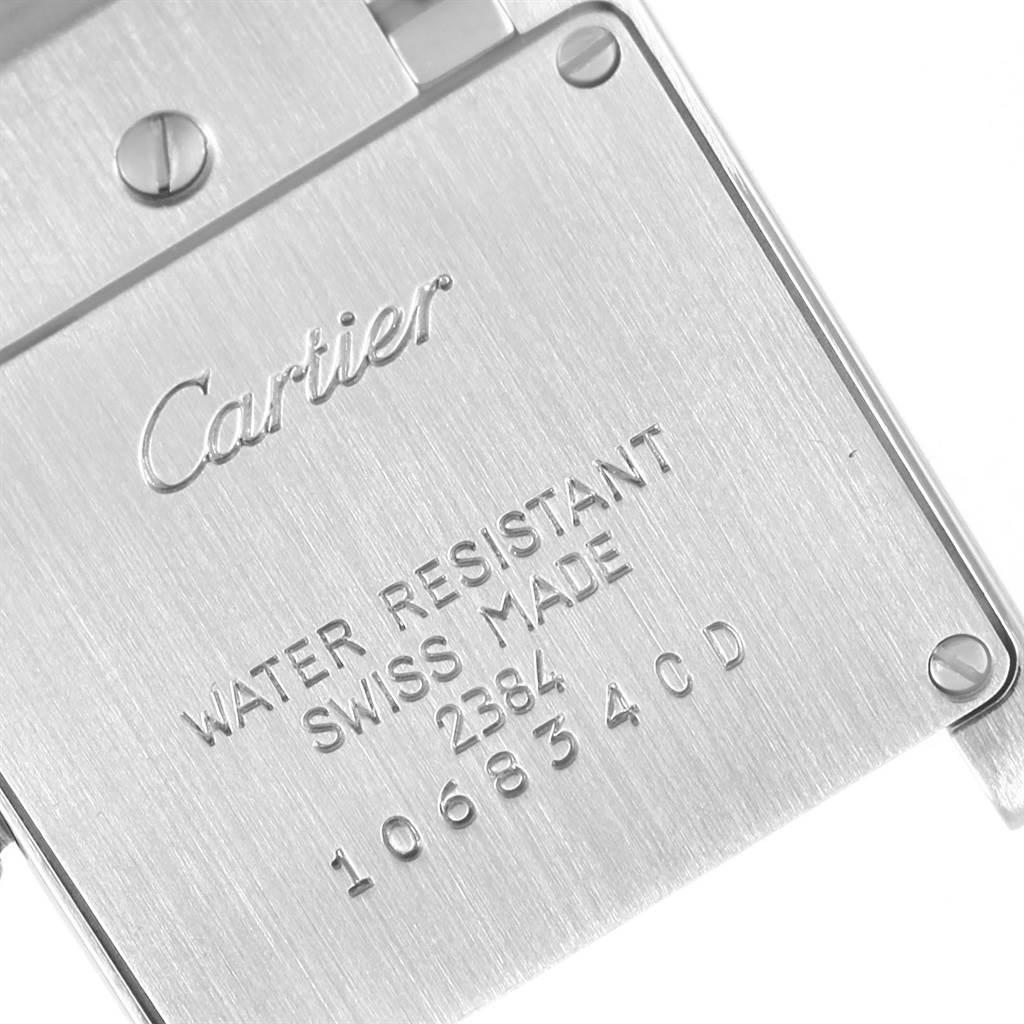 20838 Cartier Tank Francaise Silver Dial Steel Quartz Ladies Watch W51008Q3 SwissWatchExpo