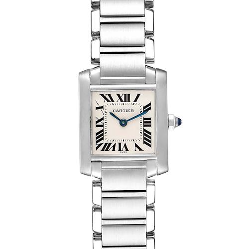 Photo of Cartier Tank Francaise Small Silver Dial Steel Ladies Watch W51008Q3