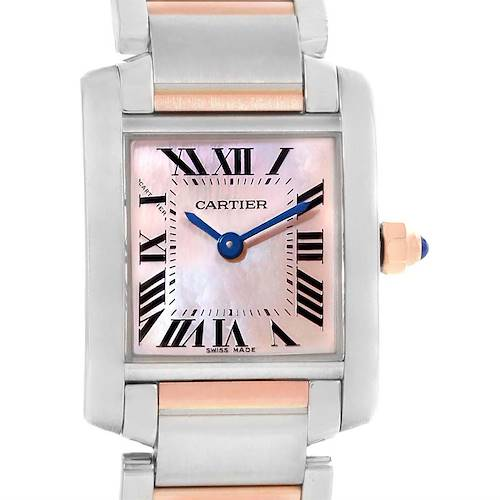Photo of Cartier Tank Francaise Steel 18k Rose Gold MOP Ladies Watch W51027Q4