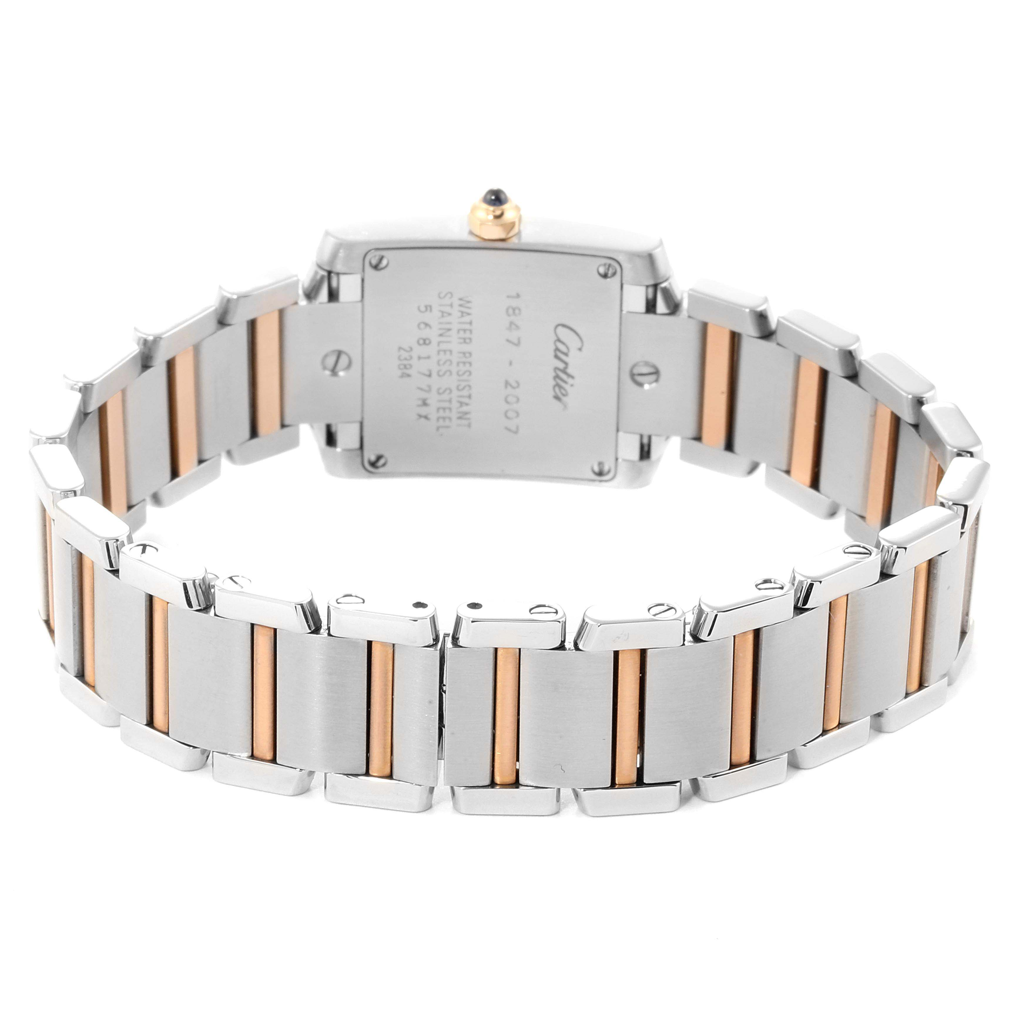 Cartier Tank Francaise Steel Rose Gold 160th Anniversary Watch W51036Q4 SwissWatchExpo