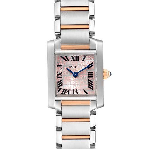 Photo of Cartier Tank Francaise Steel Rose Gold 160th Anniversary Watch W51036Q4