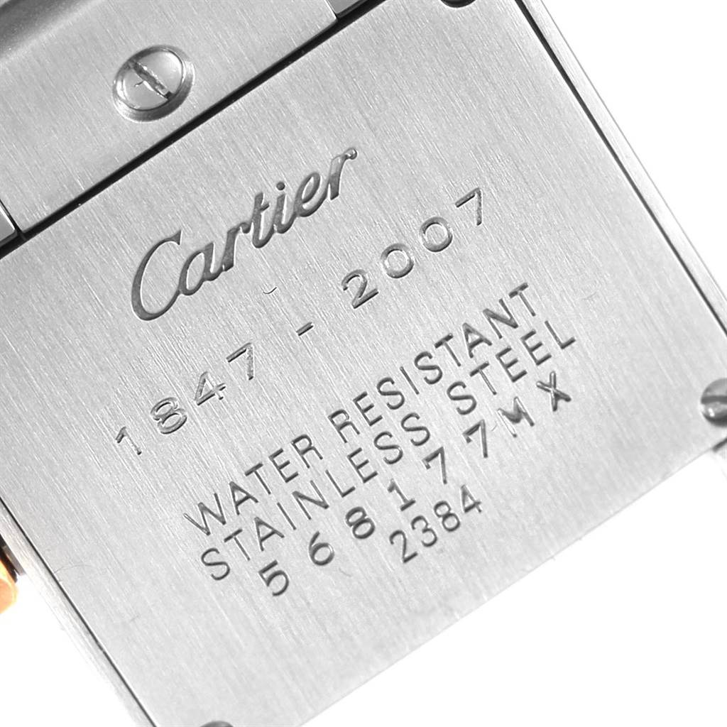 21382 Cartier Tank Francaise Steel Rose Gold 160th Anniversary Watch W51036Q4 SwissWatchExpo