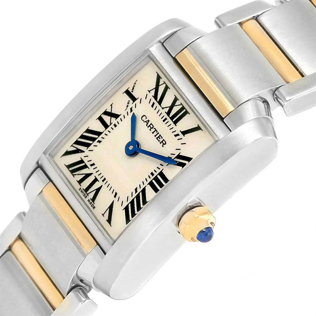 21430 Cartier Tank Francaise Steel Yellow Gold Small Ladies Watch W51007Q4 SwissWatchExpo