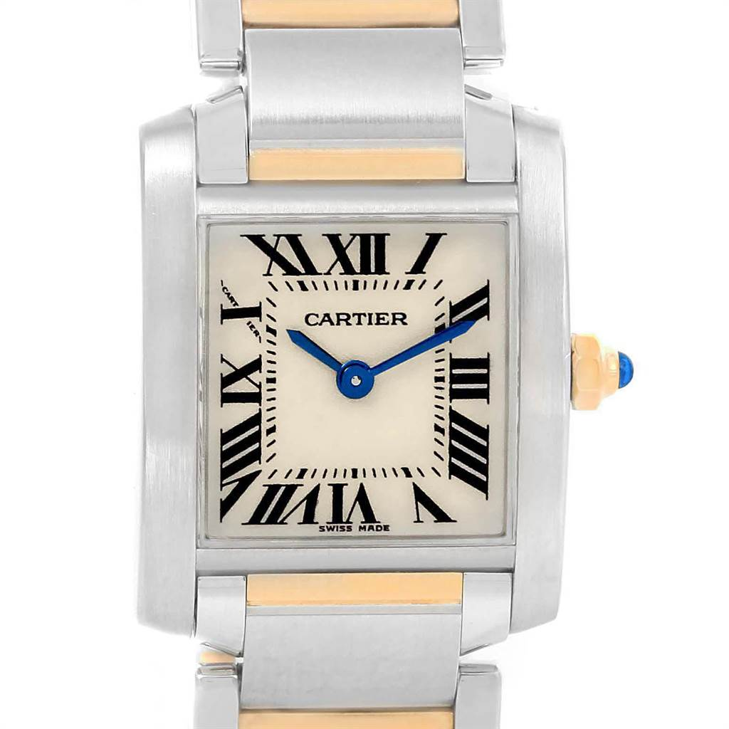 ef857ac1fa7 ... 21430 Cartier Tank Francaise Steel Yellow Gold Small Ladies Watch  W51007Q4 SwissWatchExpo ...