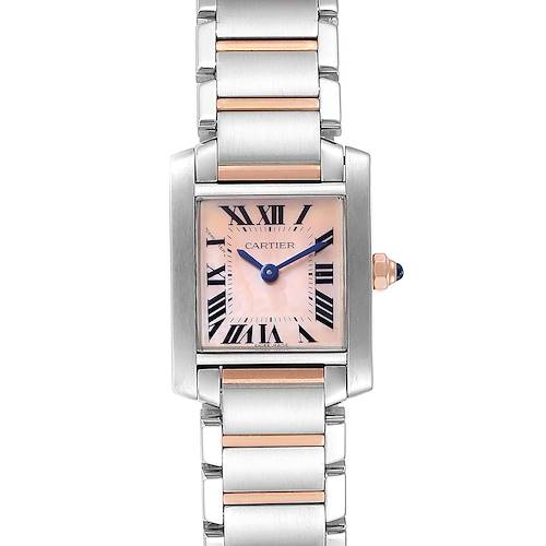 Photo of Cartier Tank Francaise Steel Rose Pink Gold MOP Ladies Watch W51027Q4