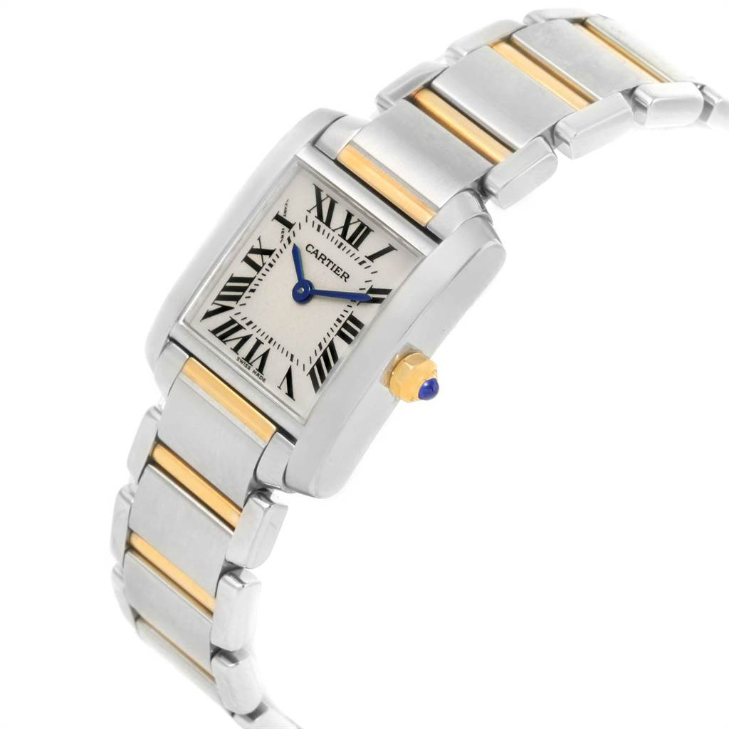 21616 Cartier Tank Francaise Steel Yellow Gold Small Ladies Watch W51007Q4 SwissWatchExpo
