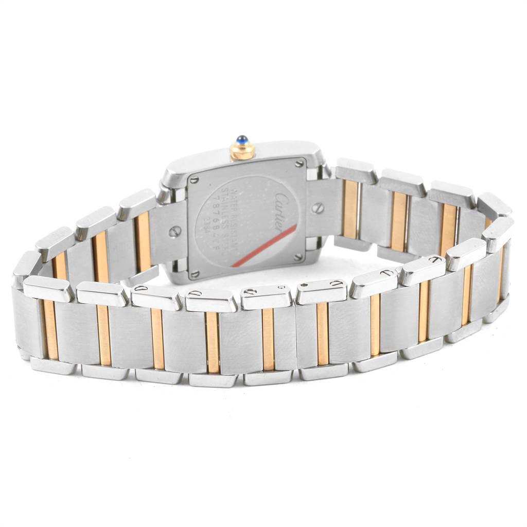 21615 Cartier Tank Francaise Steel Yellow Gold Quartz Ladies Watch W51007Q4 SwissWatchExpo