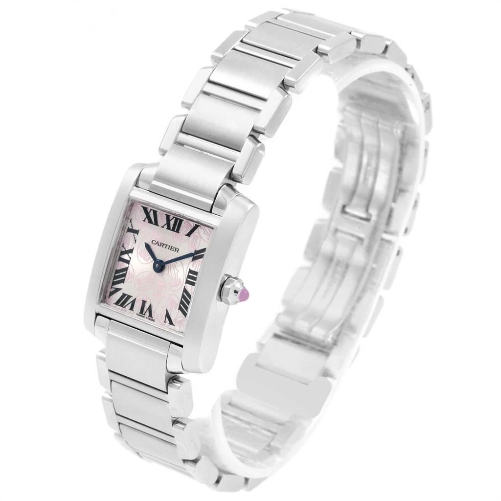 19855 Cartier Tank Francaise Pink Double C Decor LE Ladies Watch W51031Q3 SwissWatchExpo