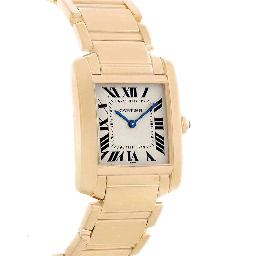 22894 Cartier Tank Francaise Midsize 18K Yellow Gold Ladies Watch W50003N2 SwissWatchExpo