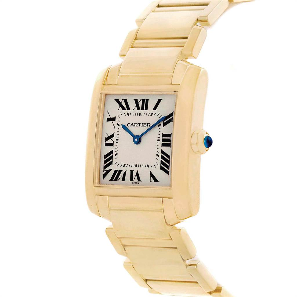 Cartier Tank Francaise Midsize 18K Yellow Gold Ladies Watch W50003N2 SwissWatchExpo