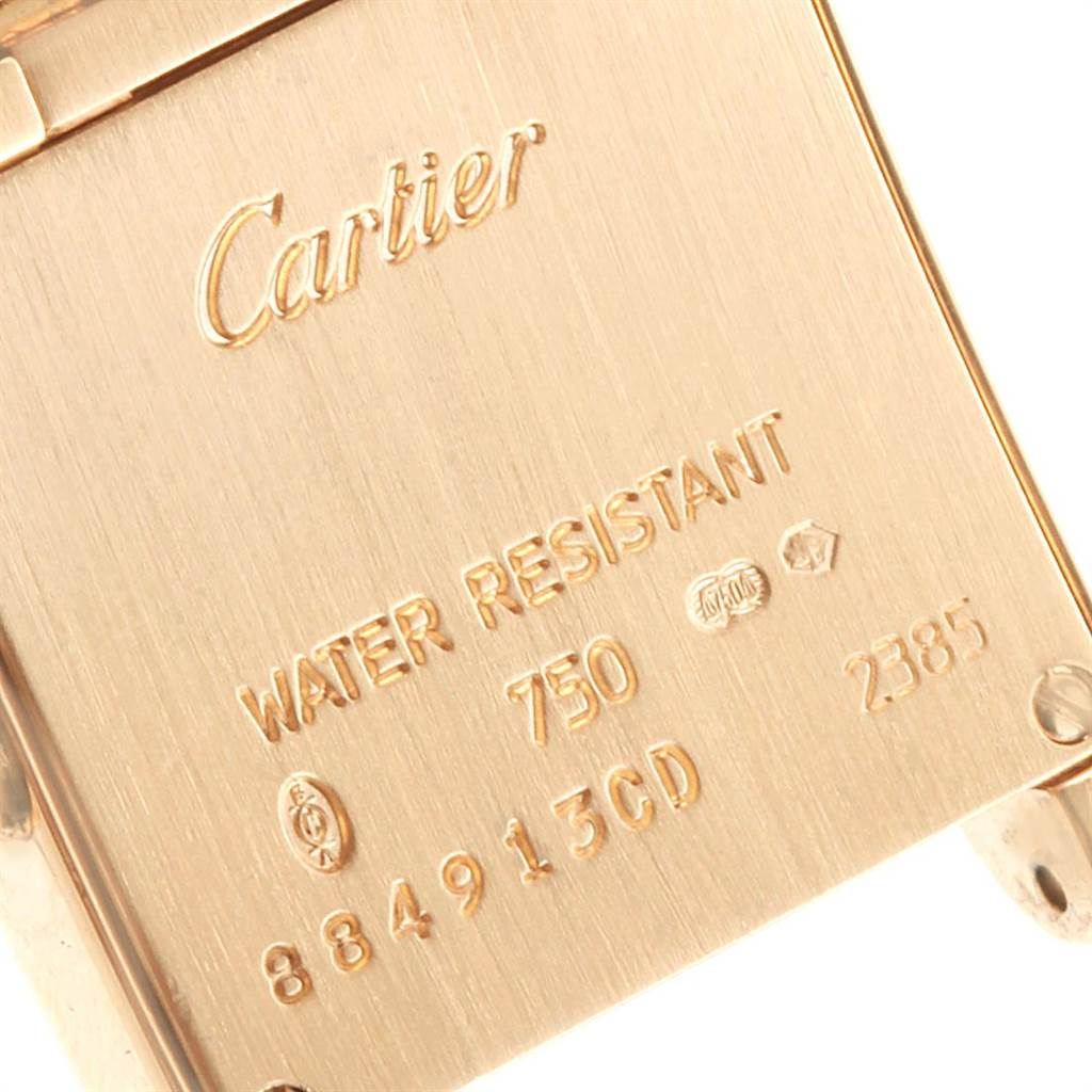 Cartier Tank Francaise Small 18K Yellow Gold Diamond Watch WE1001R8 SwissWatchExpo