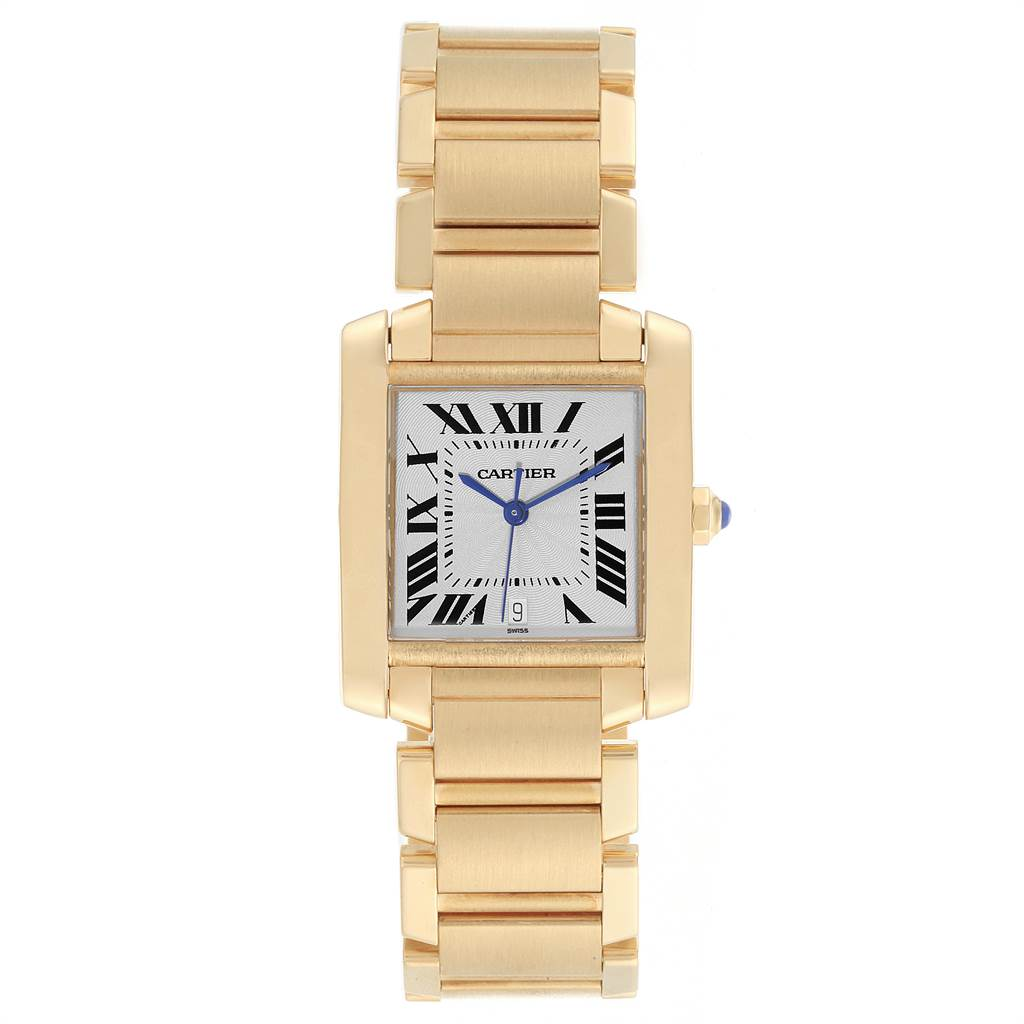 22893 Cartier Tank Francaise Large 18K Yellow Gold Ladies Watch W50001R2 SwissWatchExpo