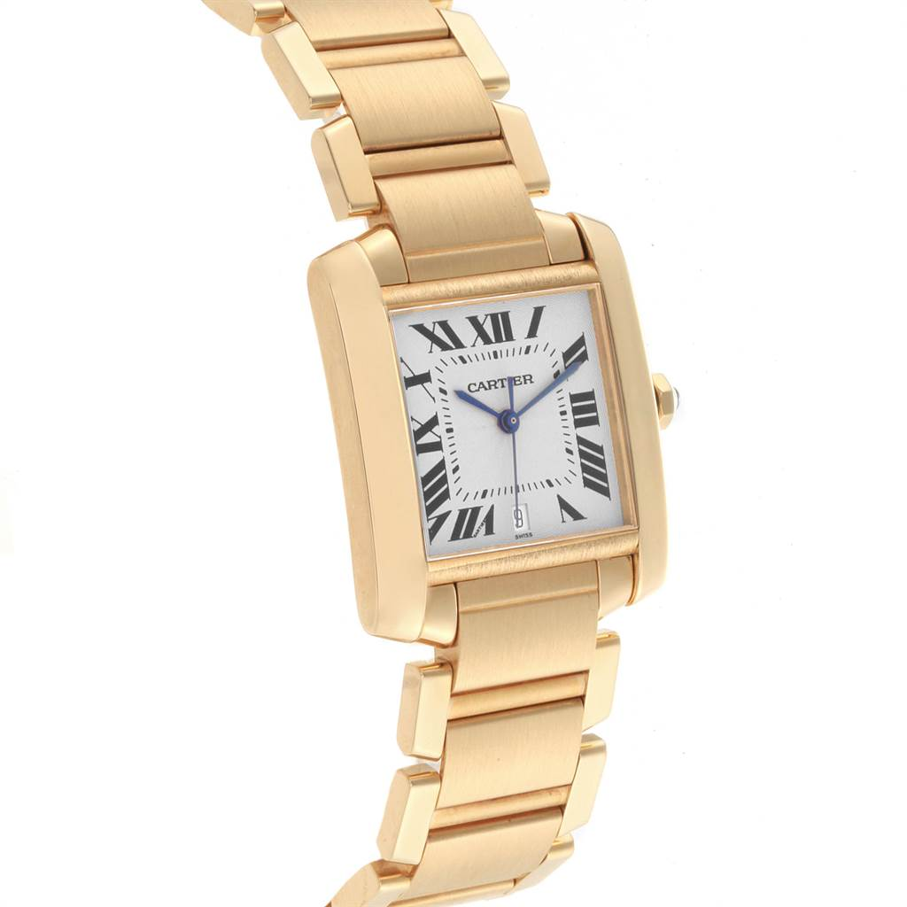 Cartier Tank Francaise Large 18K Yellow Gold Ladies Watch W50001R2 SwissWatchExpo