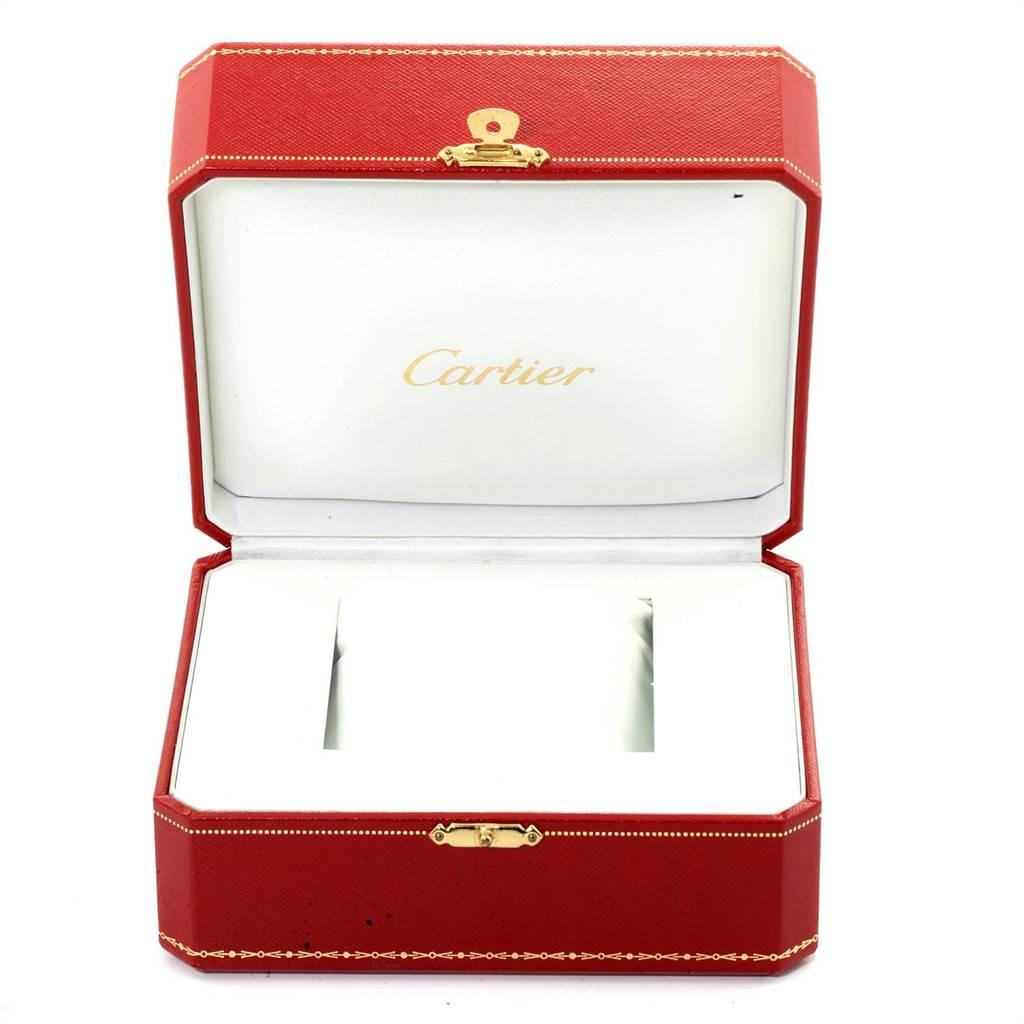 22887 Cartier Tank Francaise Small Yellow Gold Diamond Ladies Watch WE1001R8 SwissWatchExpo