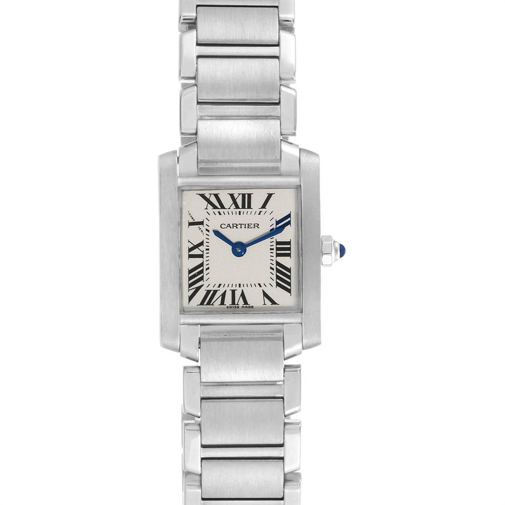 Cartier Tank Francaise Small Silver Dial Steel Ladies Watch W51008Q3 SwissWatchExpo