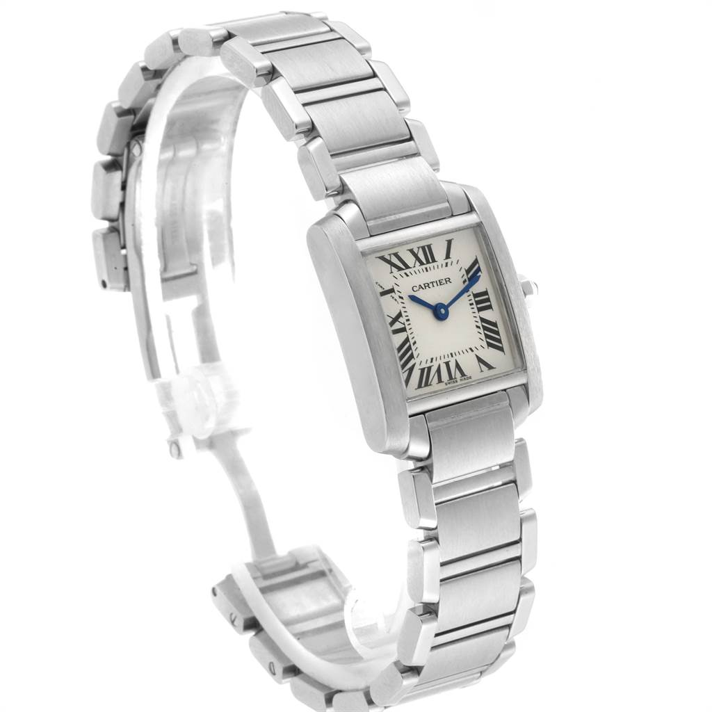 22531 Cartier Tank Francaise Small Silver Dial Steel Ladies Watch W51008Q3 SwissWatchExpo