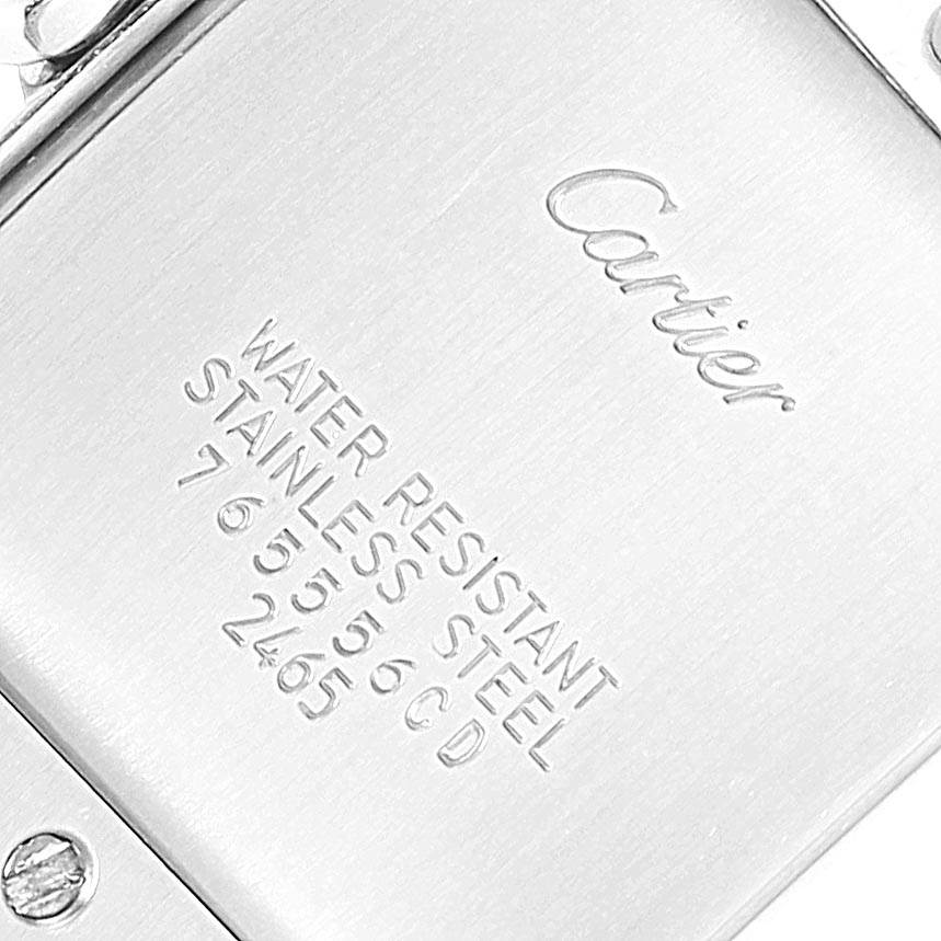18682 Cartier Tank Francaise Midsize Silver Dial Ladies Watch W51011Q3 SwissWatchExpo