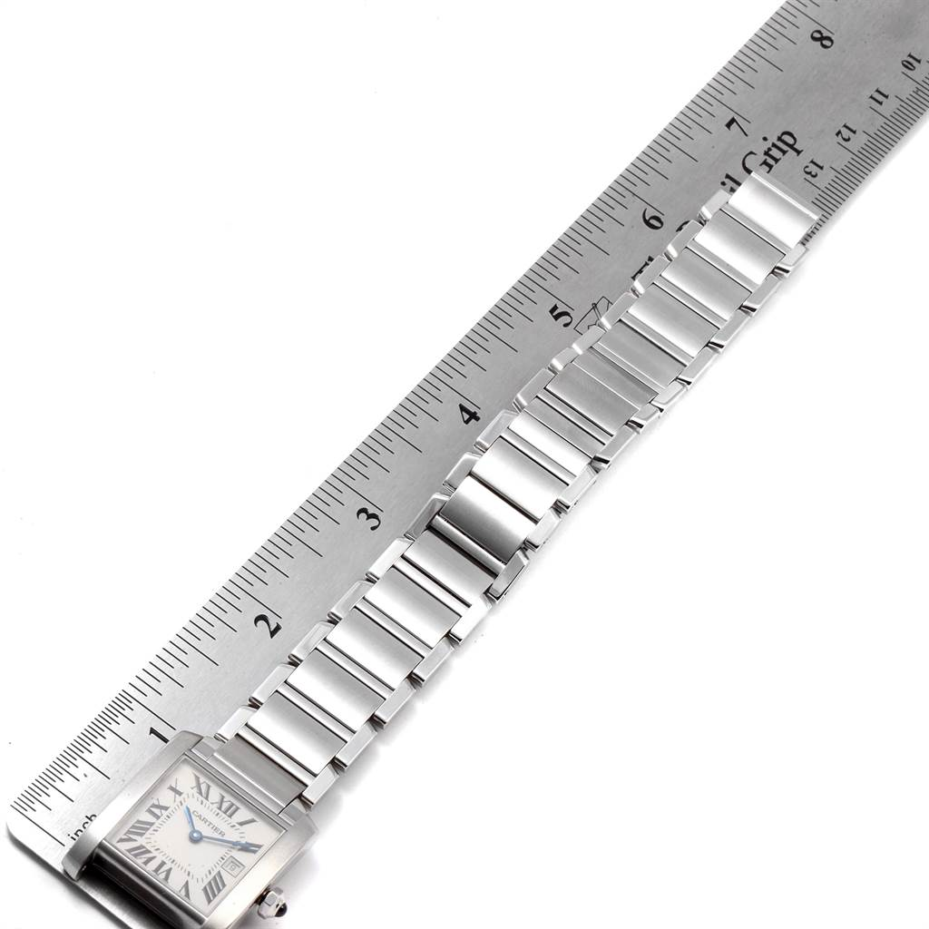 23010 Cartier Tank Francaise Midsize Silver Dial Ladies Watch W51011Q3 SwissWatchExpo