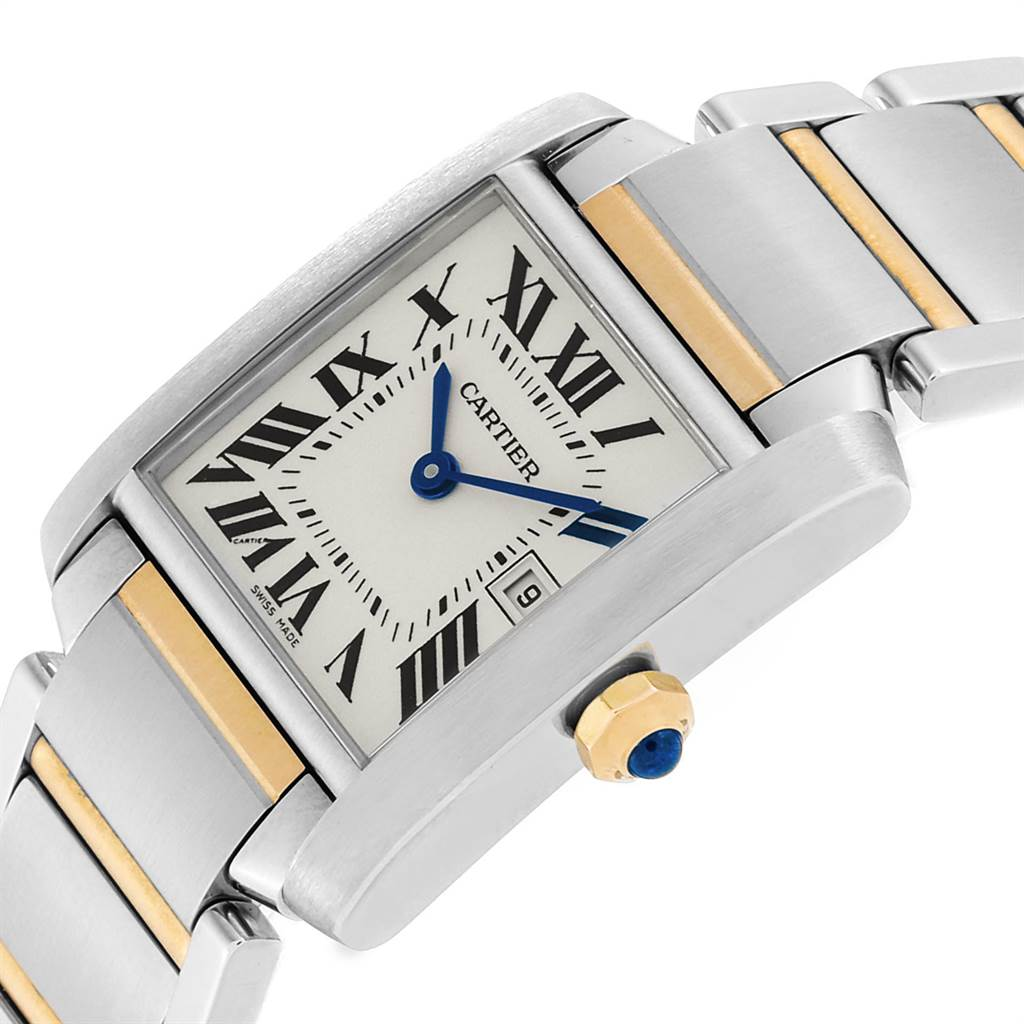 Cartier Tank Francaise Midsize Steel Yellow Gold Ladies Watch W51012Q4 SwissWatchExpo