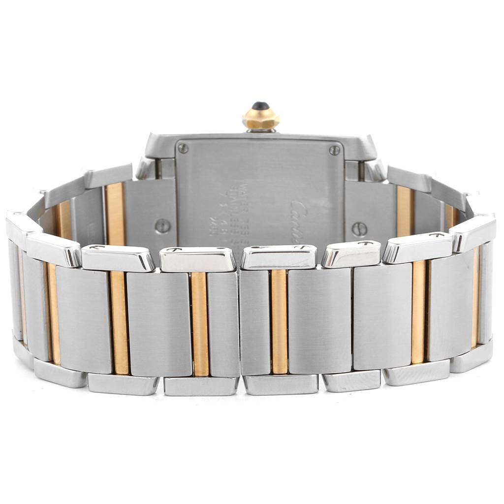 23244 Cartier Tank Francaise Midsize Steel Yellow Gold Ladies Watch W51012Q4 SwissWatchExpo