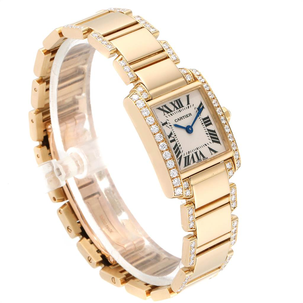 Cartier Tank Francaise 18K Yellow Gold Diamond Ladies Watch WE1001RG SwissWatchExpo