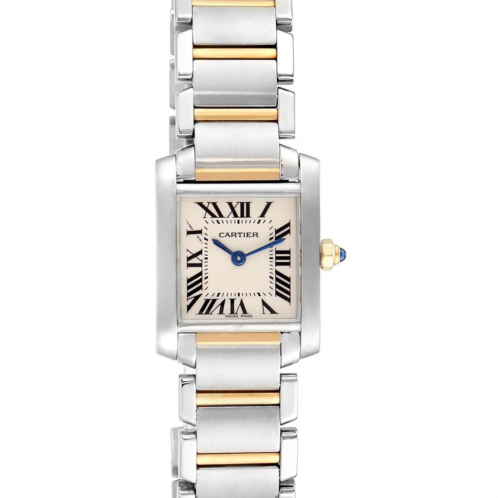 22807 Cartier Tank Francaise Steel Yellow Gold Quartz Ladies Watch W51007Q4 SwissWatchExpo