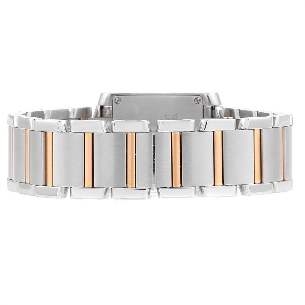 23620 Cartier Tank Francaise Steel Rose Gold Mother of Pearl Watch W51027Q4 SwissWatchExpo