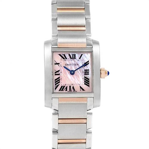 Photo of Cartier Tank Francaise Steel Rose Gold Mother of Pearl Watch W51027Q4