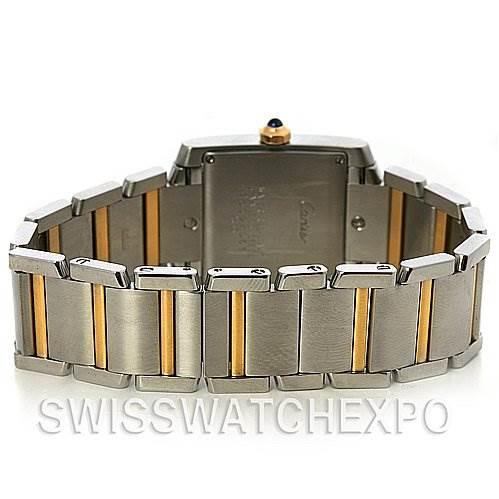2556 Cartier Tank Francaise Midsize Ss/18k y Gold W51012q4 SwissWatchExpo