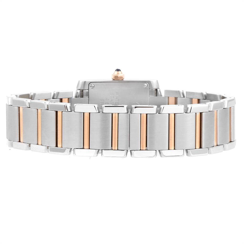 Cartier Tank Francaise Steel Rose Gold Diamond Ladies Watch WE110004 SwissWatchExpo