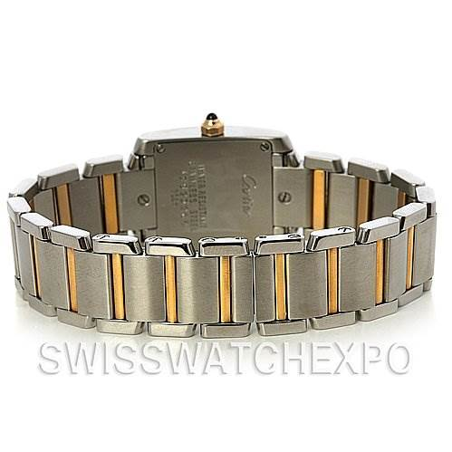 2573 Cartier Tank Francaise Small Ss & 18k y Gold W51007q4 SwissWatchExpo