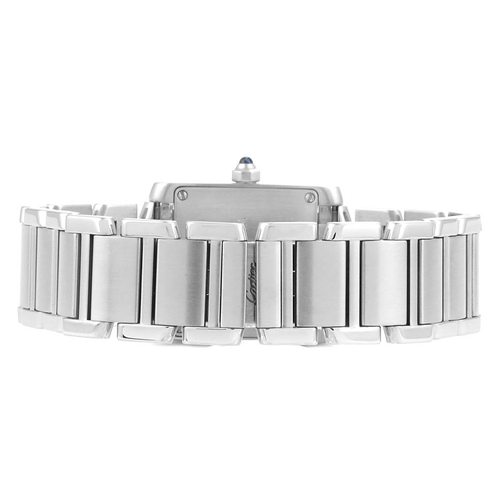 23549 Cartier Tank Francaise 20mm Silver Dial Steel Ladies Watch W51008Q3 SwissWatchExpo