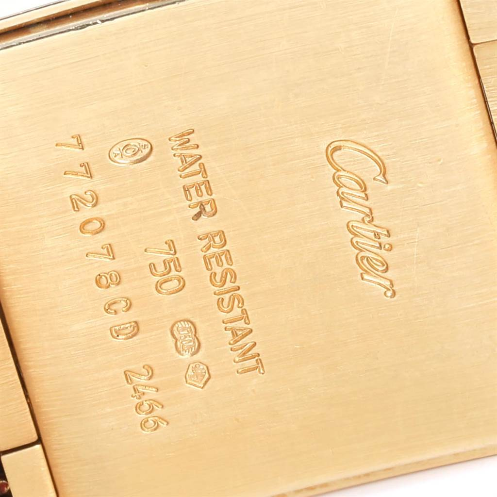 23897 Cartier Tank Francaise Midsize Date Yellow Gold Ladies Watch W50014N2 SwissWatchExpo