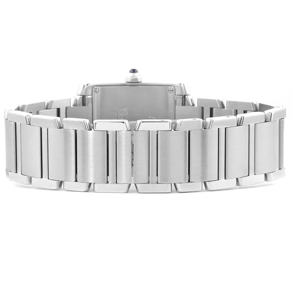 Cartier Tank Francaise Midsize Blue Hands Ladies Watch W51011Q3 SwissWatchExpo