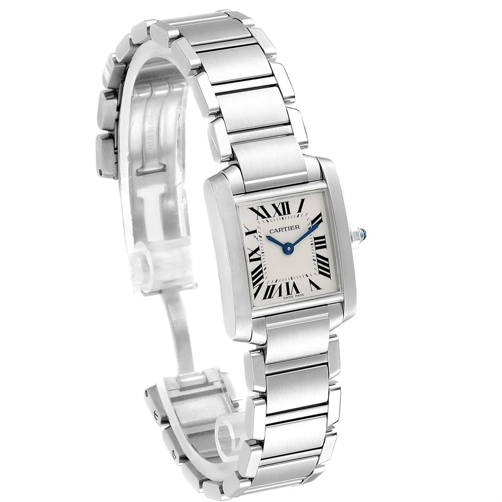 Cartier Tank Francaise 20mm Silver Dial Steel Ladies Watch W51008Q3 SwissWatchExpo