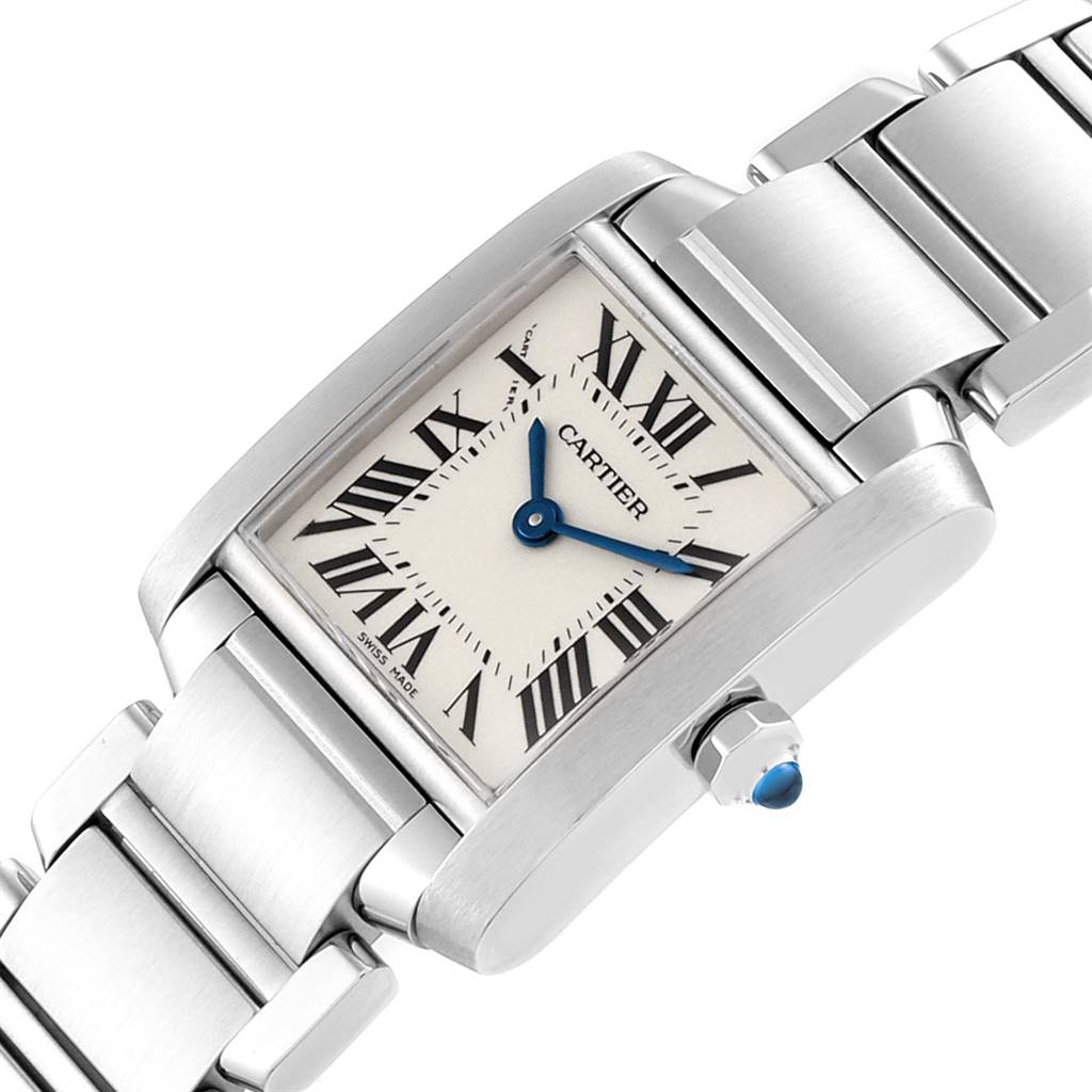 23622 Cartier Tank Francaise 20mm Silver Dial Steel Ladies Watch W51008Q3 SwissWatchExpo