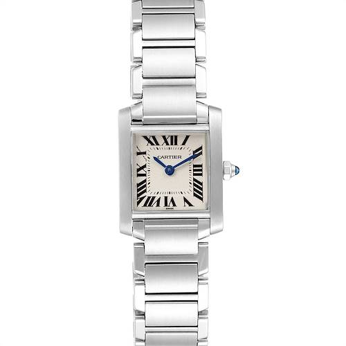 Photo of Cartier Tank Francaise Small Silver Dial Steel Ladies Watch W51008Q3 Add 1 LINK