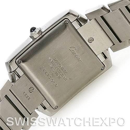 2621 Cartier Tank Francaise Large Steel Diamond Watch W51002q3 SwissWatchExpo