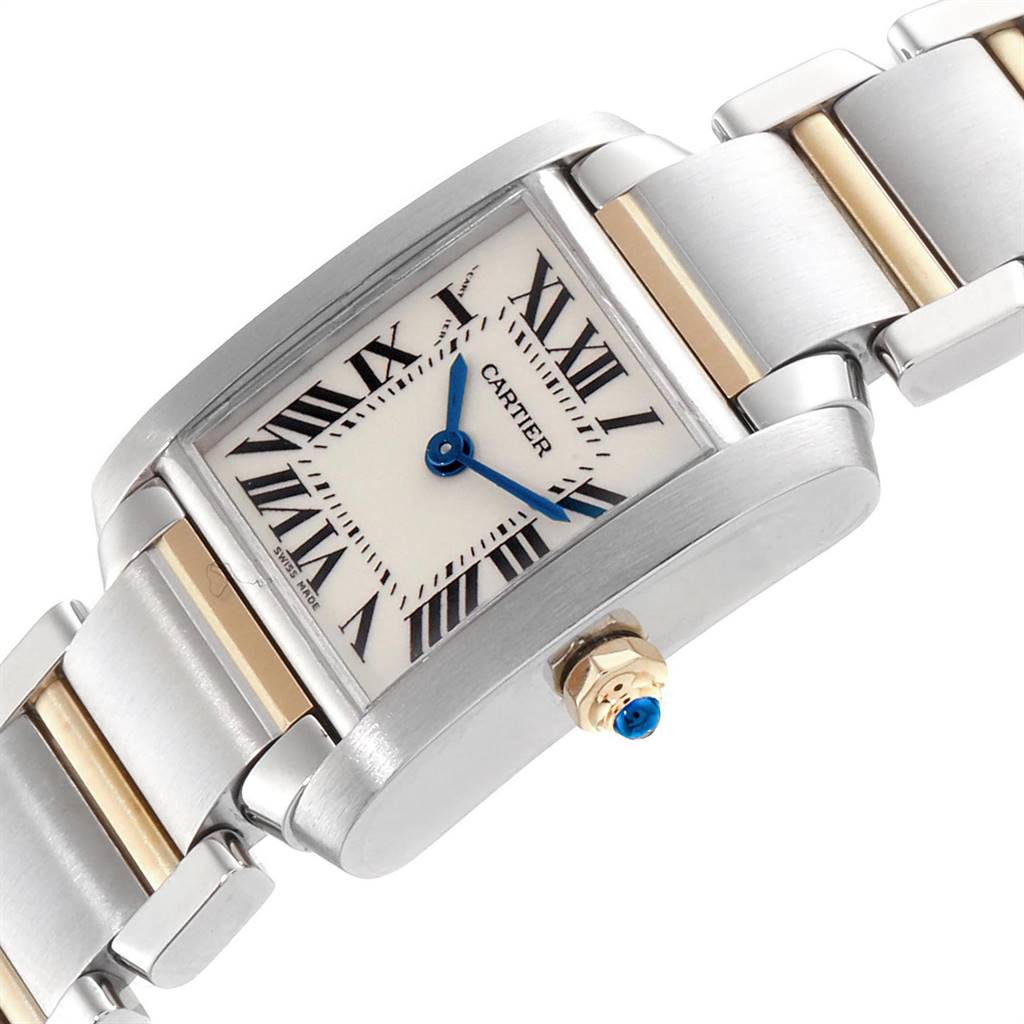 24696 Cartier Tank Francaise Small Steel Yellow Gold Ladies Watch W51007Q4 SwissWatchExpo